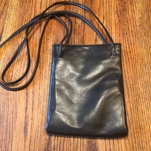 Jones New York black leather crossbody